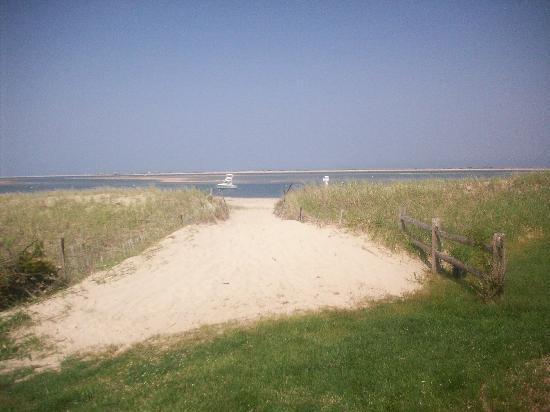 Chatham, MA: view entering private beach at the Hawthorne
