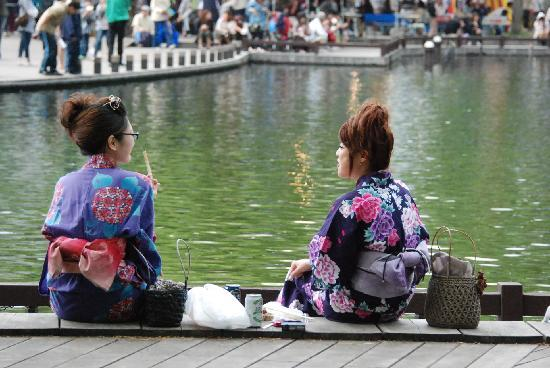 Japan: Taking in the scene at a Buddhist festival in Asahikawa.