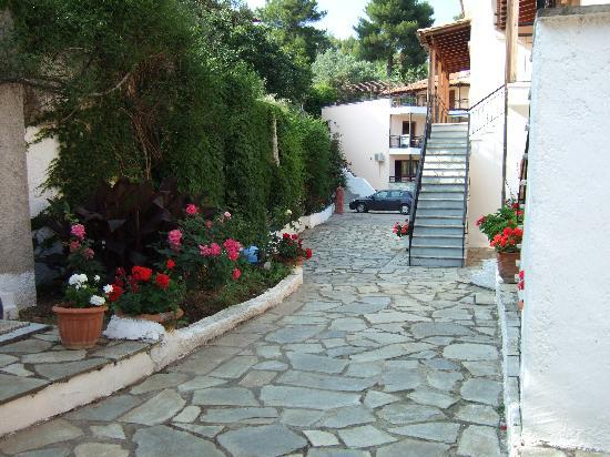 Troulos, Greece: The back of the apartments ,, very pretty and well kept