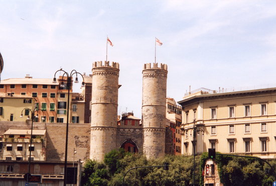 Genoa, Italy: Porta Soprana, Genova, Italy