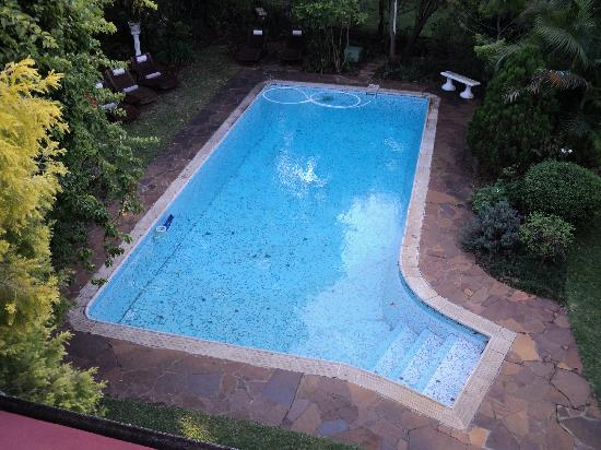 African Pride Hacklewood Hill Country House: view of the pool from our room