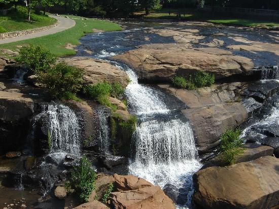 Greenville, SC: waterfalls at Falls Park