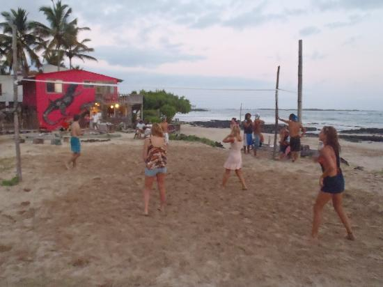 Puerto Villamil, Ecuador: volley ball during the Happy Hour