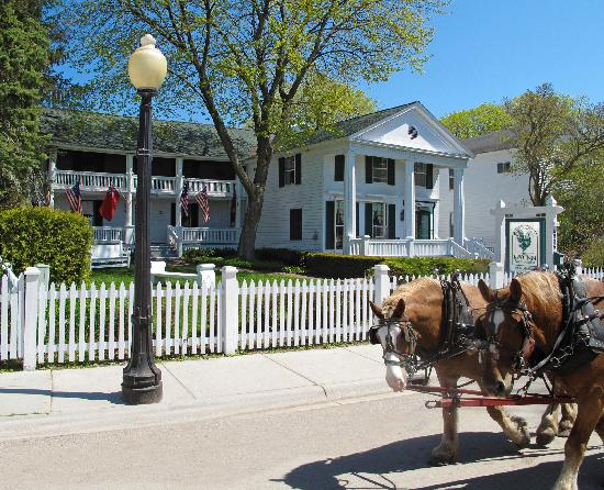 Haan's 1830 Inn: During the day, the horse drawn carriages clop by the front of the inn