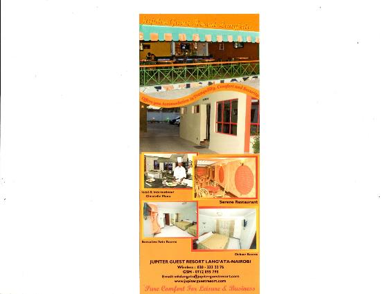 Jupiter Guest Resort Langata: Section of different departments