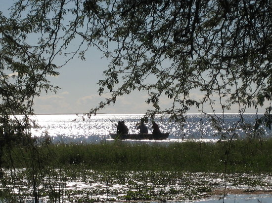 แซมเบีย: Fishermen, Chunga Lagoon, Lochinvar National Park