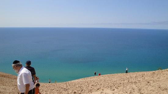 Traverse City, MI: A dizzying view from the top of the Sleeping Bear Dunes