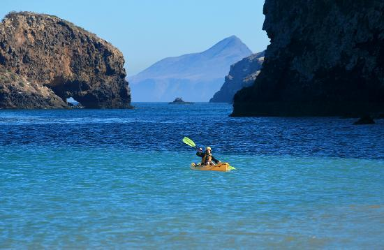 Ventura, CA: Kayakers, Channel Islands, Photo by Doug Mangum
