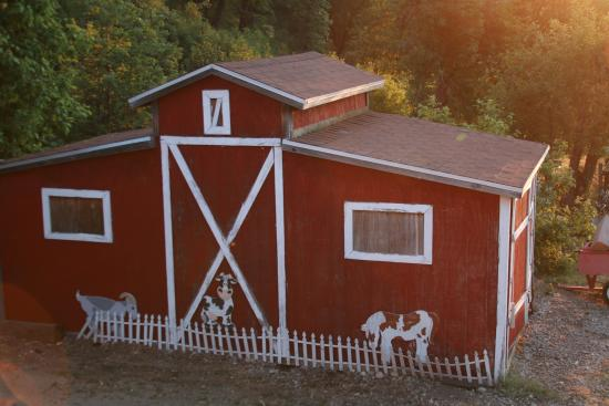 Serendipity Ranch Bed and Breakfast: Their little barn next to the animal area.
