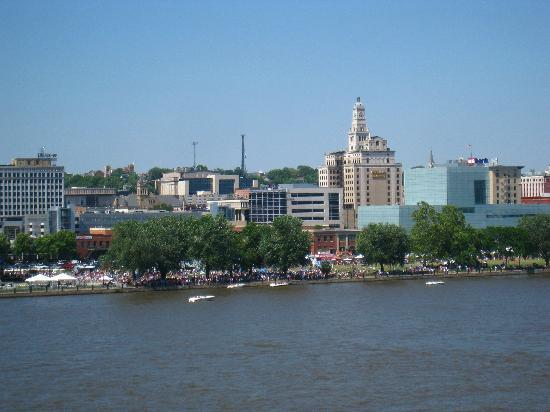 A view of Davenport from the River