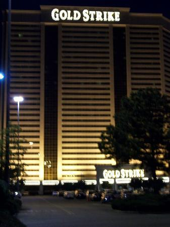 Gold Strike Casino Resort: GS Hotel at Night