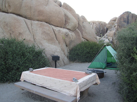 Jumbo Rocks Campground: Great place to pitch a tent.