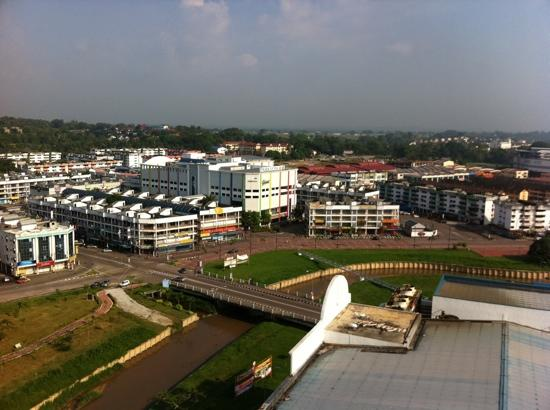 Kluang, Malaysia: Taken from my room at 13th floor of Prime City Hotel.