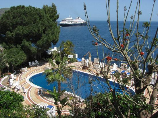 View from seaside douple room foto di hotel giardino sul - Giardino sul mare lipari ...