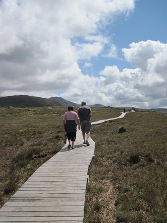 Connemara, Ireland: Heading up toward the Diamond Hill loop.