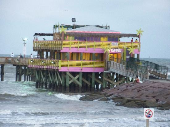 The kitschy 61st fishing pier is open picture of for Fishing galveston tx