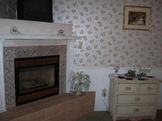 English Tea Garden Inn: Fireplace