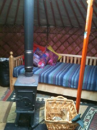 Strawberry Skys: inside a Yurt