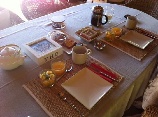 B&amp;B Casa Las Palmeras: Some of the food at breakfast