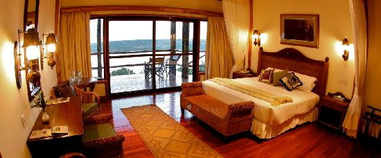 ‪‪Queen Elizabeth National Park‬, أوغندا: Mweya Lodge room‬