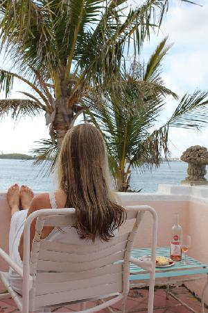 Warwick, Bermuda: Relaxing on our private terrace