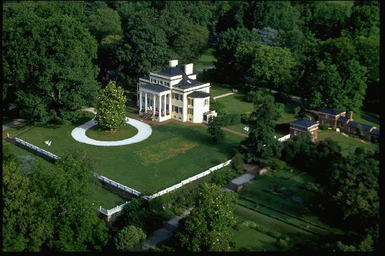 Aerial view of Oatlands Historic House & Gardens, Leesburg.