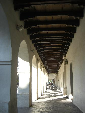 The wooden eaves surrounding Salta's main square