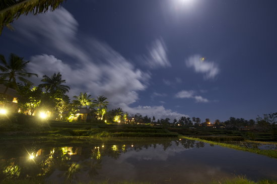 Wapa di Ume Ubud Resort and Spa: Night impression @full moon in the Waka di Ume