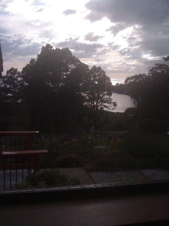 Cottages at Little River Cove: View From Inside Dillion Cottage As the Sun Sets