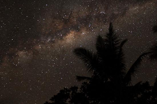 Matava - Fiji's Premier Eco Adventure Resort: time of midnight on Matava resort