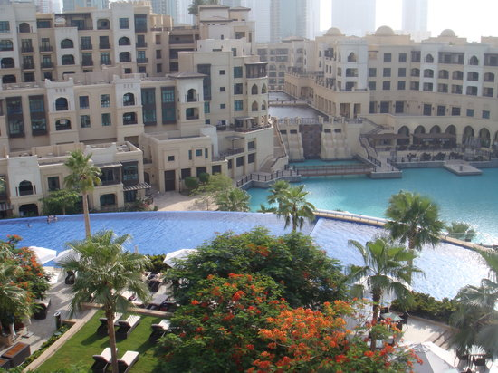 The Address Downtown Dubai: Pool view from club terrace
