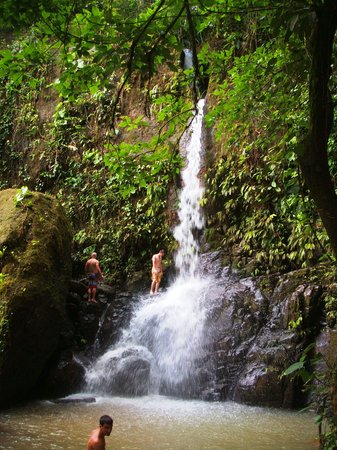 Dominical, Kosta Rika: Waterfalls, Villa Los Aires, jungle lodge