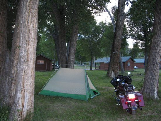 Chama, NM: I was the only tent.