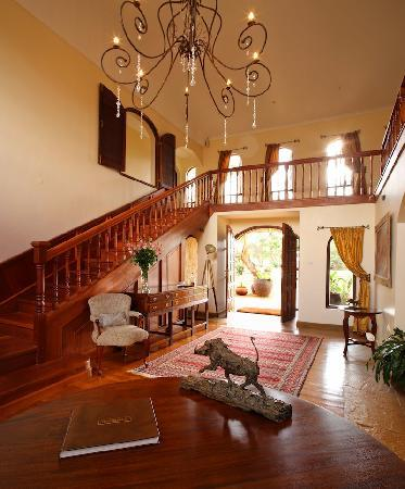 The entrance hall at Hogmead