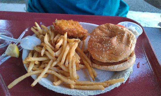 Groton, CT: Fish Sandwich (with half the fish removed)