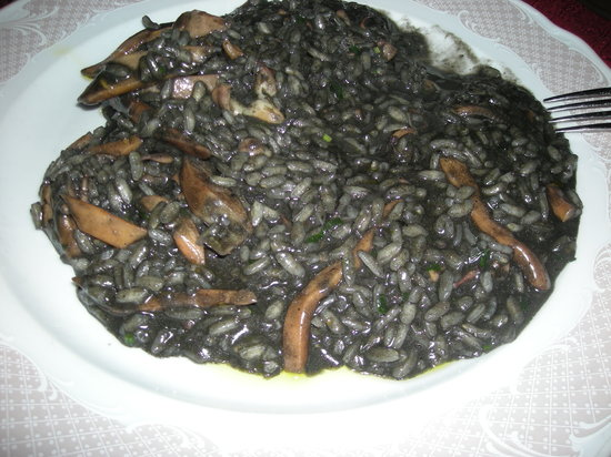 Umag, Kroasia: risotto col nero di seppia