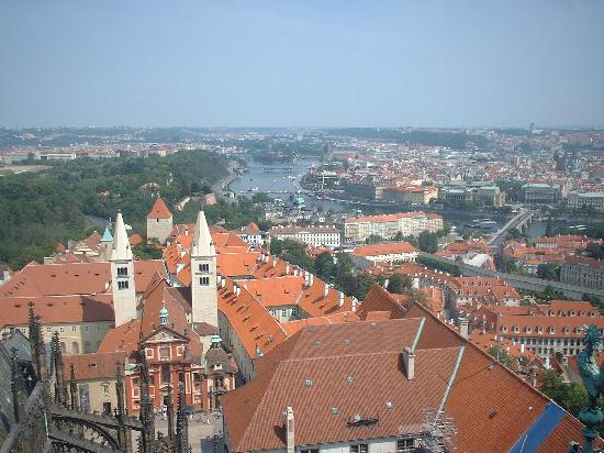President Hotel Prague: VIEW OF THE HOTEL FROM THE TOP OF THE TOWER