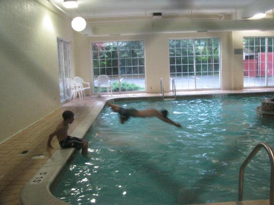 Comfort Inn at the Park: My son in the pool.
