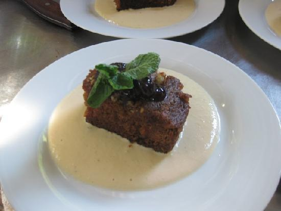 ... Famous Carrot Cake- Caramelized and served hot with Ginger Custard