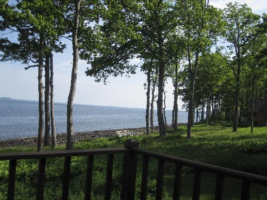 Cedarholm Garden Bay Inn: View from the Loon cottage deck