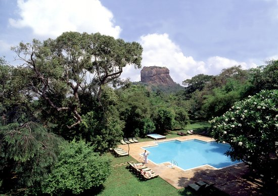 Sigiriya Village Hotel: View of the Sigiriya Rock Fortress from the Hotel