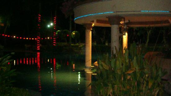 Everly Resort: pool view at night