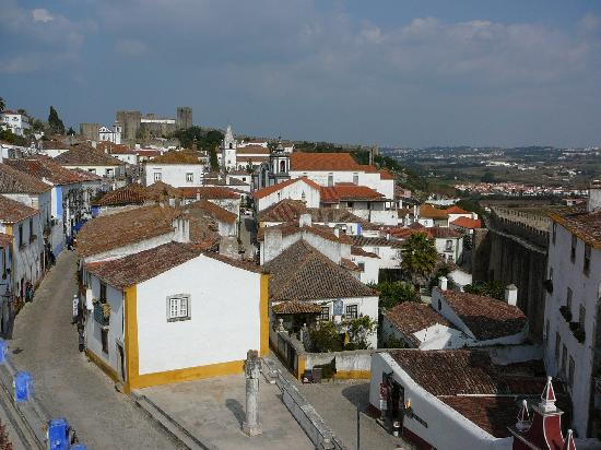 Obidos, Portugal: On the village wall
