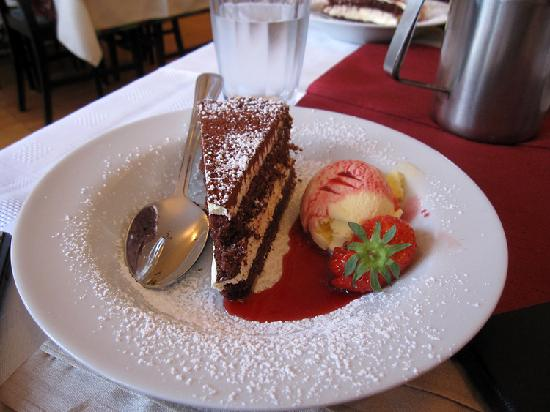 Corratavey B&B: One of the desserts we had in the attached restaurant