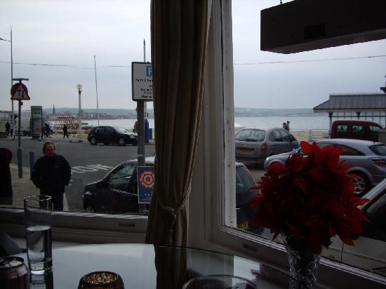 The Bourneville: View from the Bar window right out onto the beach