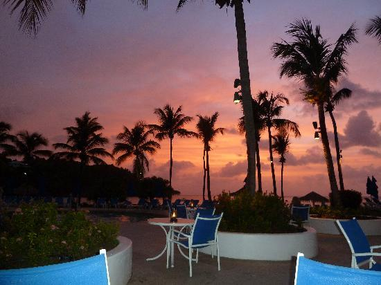 Cap Estate, St. Lucia: Sunset at the Piton Lounge