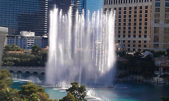 Bill's Gamblin' Hall & Saloon: Ballagio Fountains taken from my room