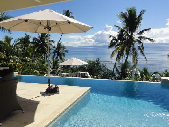 Wyspa Taveuni, Fidi: view over pool