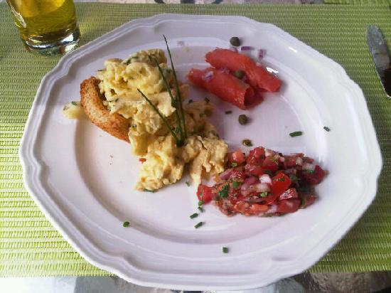 Willow Beach Bed and Breakfast: One of the many amazing breakfasts