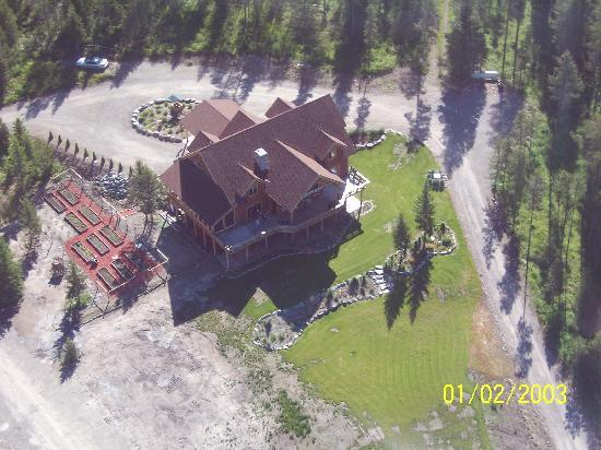 The Great Bear Inn: view from helecopter